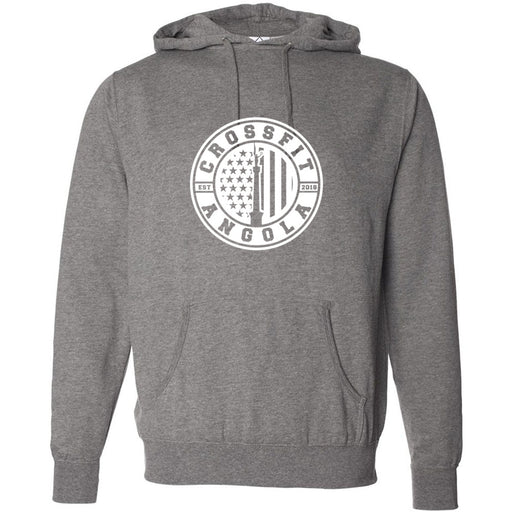 CrossFit Angola - 100 - White - Independent - Hooded Pullover Sweatshirt