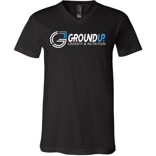 CrossFit Ground Up - 100 - Standard - Bella + Canvas - Men's Short Sleeve V-Neck Jersey Tee