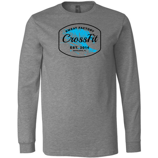 Sweat Factory CrossFit - Rockledge - 100 - KK4 - Bella + Canvas 3501 - Men's Long Sleeve Jersey Tee