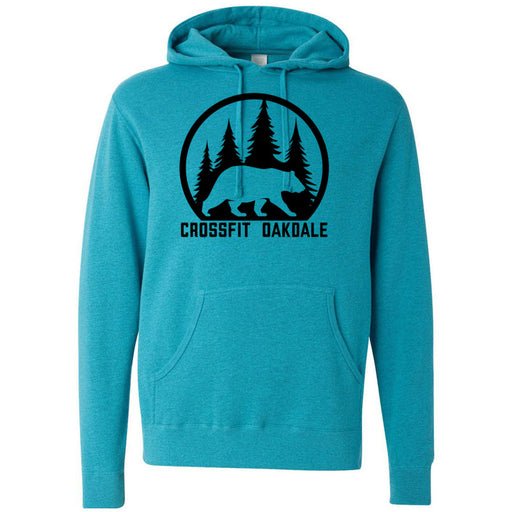 CrossFit Oakdale - 100 - Calibear Black - Independent - Hooded Pullover Sweatshirt