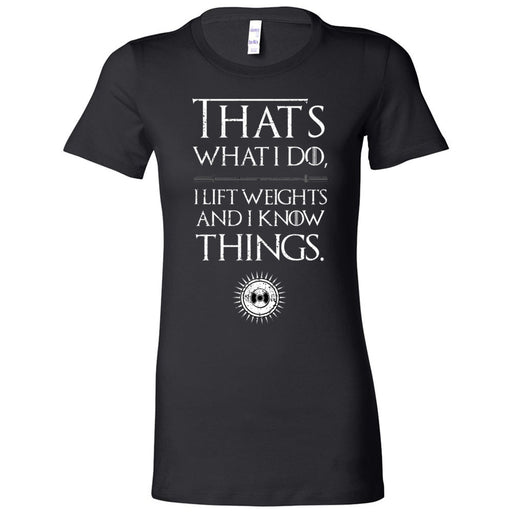 AMP Premium - 100 - I Know Things - Bella + Canvas - Women's The Favorite Tee
