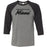 Reebok CrossFit Miami Beach - 100 - Black - Bella + Canvas - Men's Three-Quarter Sleeve Baseball T-Shirt