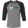 CrossFit Adversis - 100 - Standard - Bella + Canvas - Men's Three-Quarter Sleeve Baseball T-Shirt