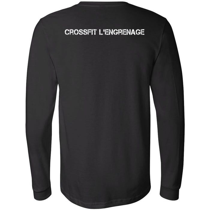 CrossFit L'Engrenage - 202 - Pocket - Bella + Canvas 3501 - Men's Long Sleeve Jersey Tee