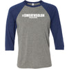 CrossFit Solon - 202 - #SweatNSolon - Bella + Canvas - Men's Three-Quarter Sleeve Baseball T-Shirt