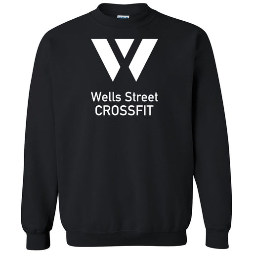 Wells Street CrossFit - 100 - Stacked - Gildan - Heavy Blend Crewneck Sweatshirt