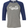 CrossFit Oakdale - 100 - Standard - Bella + Canvas - Men's Three-Quarter Sleeve Baseball T-Shirt