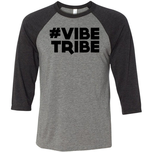 Mad Apple CrossFit - 202 - Vibe Tribe - Bella + Canvas - Men's Three-Quarter Sleeve Baseball T-Shirt