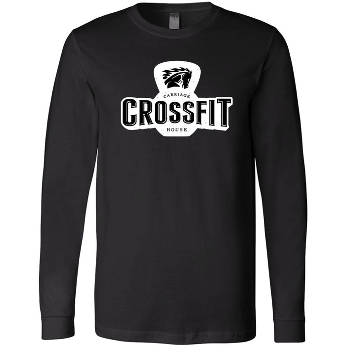 Carriage House CrossFit - 100 - Standard - Bella + Canvas 3501 - Men's Long Sleeve Jersey Tee