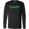 G-Theory CrossFit - 100 - Stacked Gradient - Bella + Canvas 3501 - Men's Long Sleeve Jersey Tee