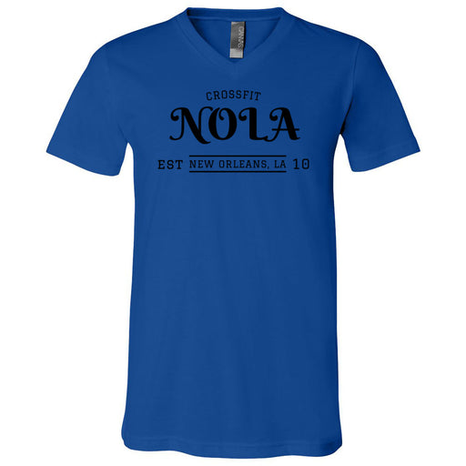 CrossFit NOLA - 100 - UU2 - Bella + Canvas - Men's Short Sleeve V-Neck Jersey Tee
