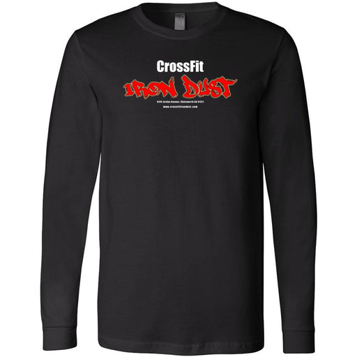 CrossFit Iron Dust - 100 - Standard - Bella + Canvas 3501 - Men's Long Sleeve Jersey Tee