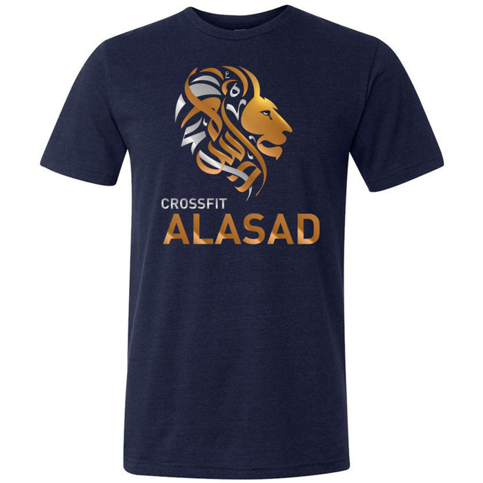 CrossFit Alasad - 100 - Lion - Bella + Canvas - Men's Triblend Short Sleeve Tee