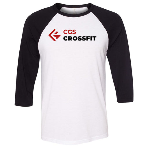 CGS CrossFit - 100 - Standard - Bella + Canvas - Men's Three-Quarter Sleeve Baseball T-Shirt