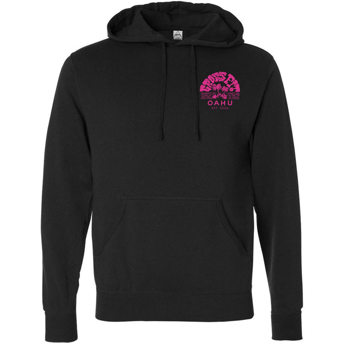CrossFit Oahu - 201 - Vintage Island Pink - Independent - Hooded Pullover Sweatshirt