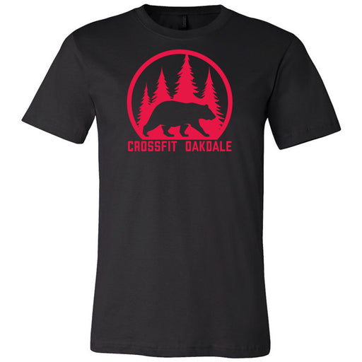 CrossFit Oakdale - 100 - Calibear Red - Bella + Canvas - Men's Short Sleeve Jersey Tee