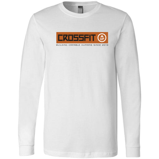 CrossFit Up - 100 - Building Capable Humans - Bella + Canvas 3501 - Men's Long Sleeve Jersey Tee