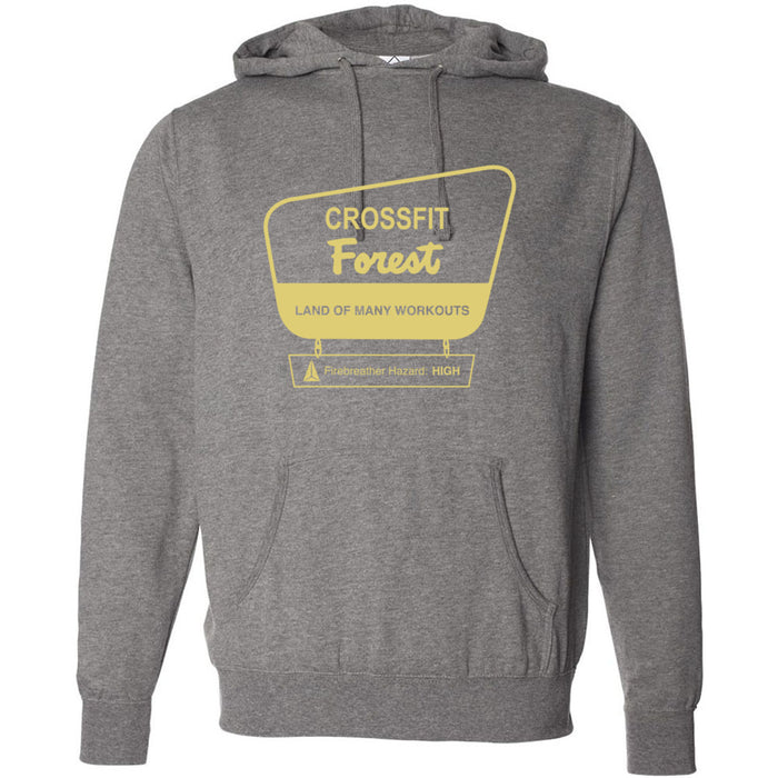 CrossFit Forest - 100 - Parks - Independent - Hooded Pullover Sweatshirt