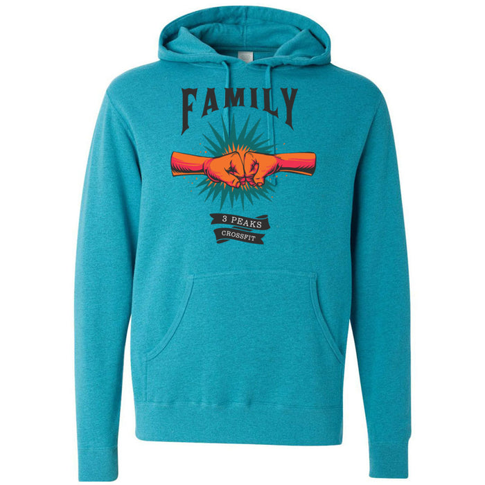 3 Peaks CrossFit - 100 - Family - Independent - Hooded Pullover Sweatshirt