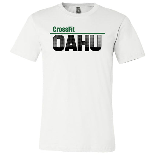 CrossFit Oahu - 200 - HI Green Black - Bella + Canvas - Men's Short Sleeve Jersey Tee