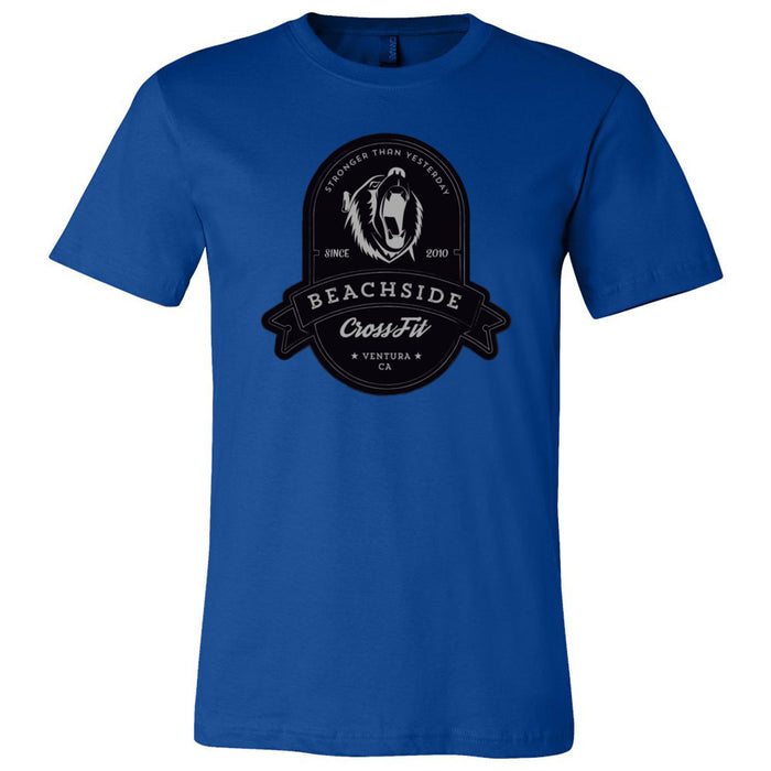 BeachSide CrossFit - 100 - Stronger Than Yesterday - Bella + Canvas - Men's Short Sleeve Jersey Tee
