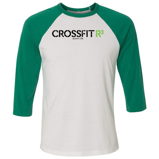 CrossFit R3 - 100 - Standard - Bella + Canvas - Men's Three-Quarter Sleeve Baseball T-Shirt