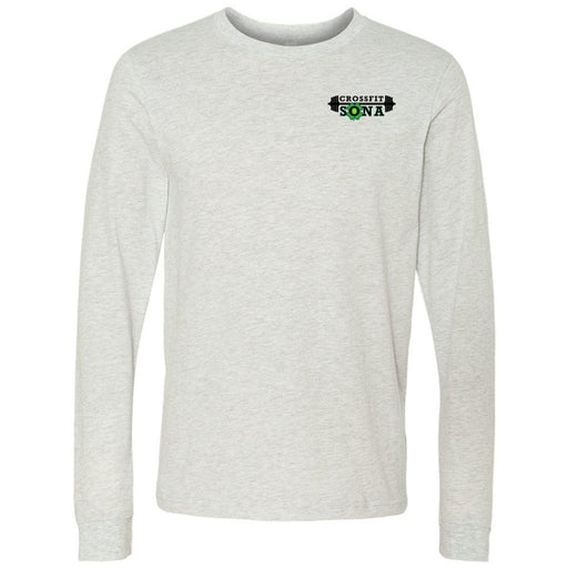 CrossFit Sona - 100 - Pocket - Bella + Canvas 3501 - Men's Long Sleeve Jersey Tee