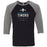CrossFit Timoro - 100 - Standard - Bella + Canvas - Men's Three-Quarter Sleeve Baseball T-Shirt