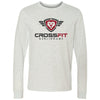 CrossFit Burlingame - 100 - Burlingame Distressed - Bella + Canvas 3501 - Men's Long Sleeve Jersey Tee