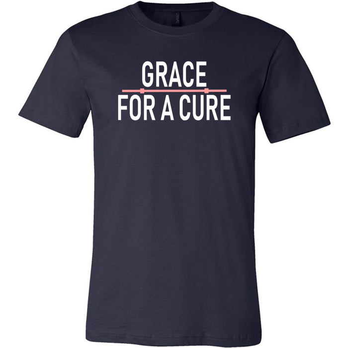 CrossFit Marquette - 200 - Grace For A Cure Barbell - Bella + Canvas - Men's Short Sleeve Jersey Tee