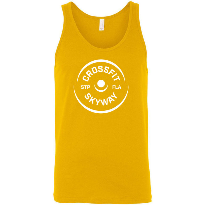 CrossFit Skyway - 100 - Barbell - Bella + Canvas - Men's Jersey Tank