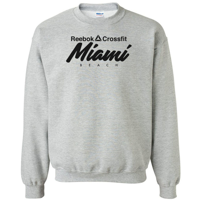 Reebok CrossFit Miami Beach - 100 - Black - Gildan - Heavy Blend Crewneck Sweatshirt