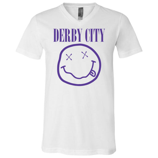 Derby City CrossFit - 200 - Nirvana Blue - Bella + Canvas - Men's Short Sleeve V-Neck Jersey Tee