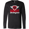 CrossFit Burlingame - 100 - Script - Bella + Canvas 3501 - Men's Long Sleeve Jersey Tee