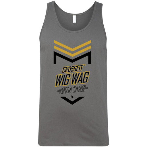 CrossFit Wig Wag - 100 - 2020 Open 20.2 Gold - Bella + Canvas - Men's Jersey Tank