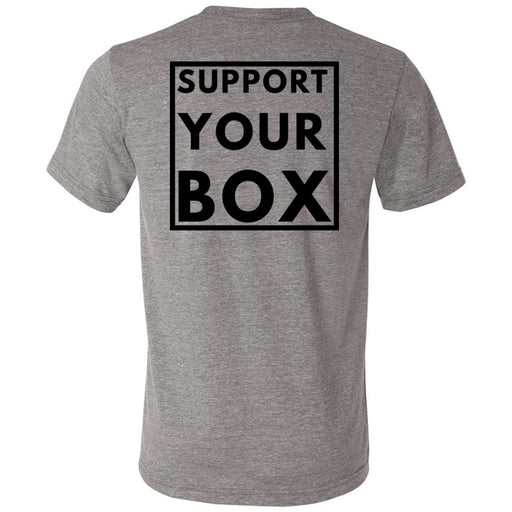 Hub City CrossFit - 200 - Support Your Box - Bella + Canvas - Men's Triblend Short Sleeve Tee