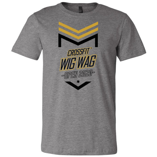 CrossFit Wig Wag - 100 - 2020 Open 20.2 Gold - Bella + Canvas - Men's Short Sleeve Jersey Tee