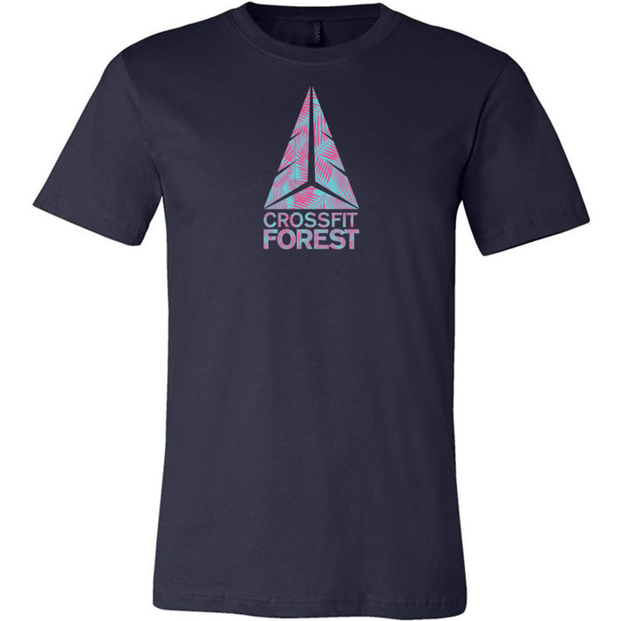 CrossFit Forest - 100 - Palms Pink - Bella + Canvas - Men's Short Sleeve Jersey Tee