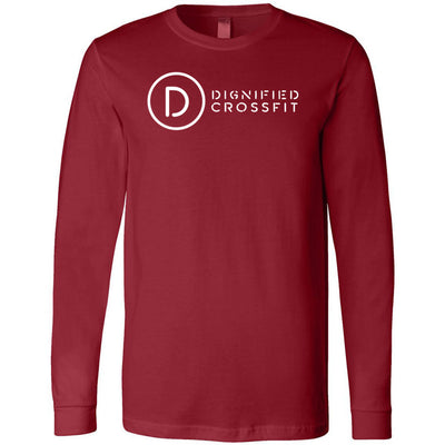 Dignified CrossFit - 100 - Stacked - Bella + Canvas 3501 - Men's Long Sleeve Jersey Tee