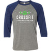 CrossFit Inconceivable - 100 - White - Bella + Canvas - Men's Three-Quarter Sleeve Baseball T-Shirt