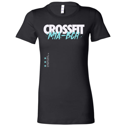 Reebok CrossFit Miami Beach - 100 - Cyan - Bella + Canvas - Women's The Favorite Tee