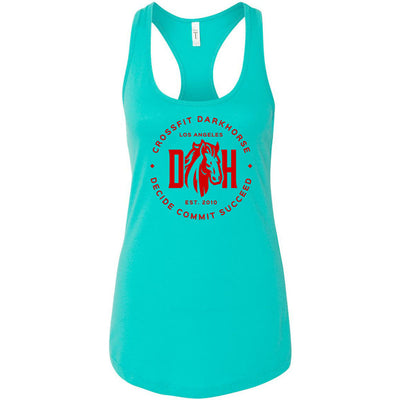 CrossFit Dark Horse - 100 - Decide-Commit-Succeed - Next Level - Women's Ideal Racerback Tank