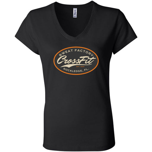 Sweat Factory CrossFit - Rockledge - 100 - DD3 - Bella + Canvas - Women's Short Sleeve Jersey V-Neck Tee