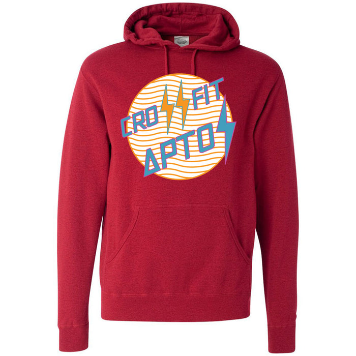 CrossFit Aptos - 100 - Circle Orange - Independent - Hooded Pullover Sweatshirt