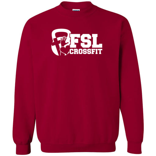 FSL CrossFit - 100 - White - Gildan - Heavy Blend Crewneck Sweatshirt