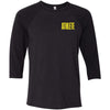 CrossFit Bearden - 202 - Athlete - Bella + Canvas - Men's Three-Quarter Sleeve Baseball T-Shirt