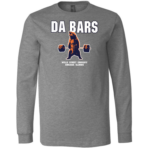 Wells Street CrossFit - 100 - DaBars - Bella + Canvas 3501 - Men's Long Sleeve Jersey Tee