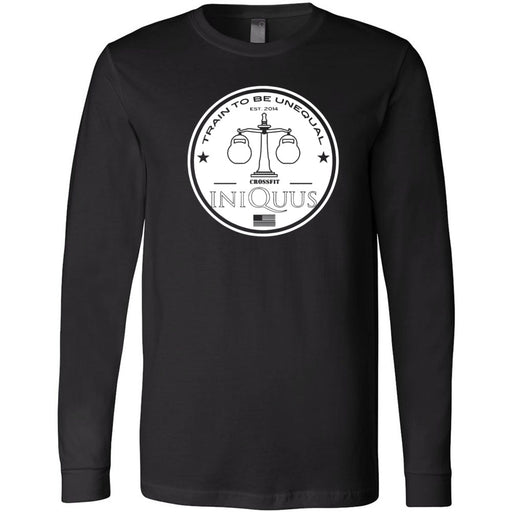 CrossFit Iniquus - 202 - Standard - Bella + Canvas 3501 - Men's Long Sleeve Jersey Tee