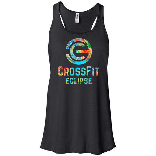 CrossFit Eclipse - 100 - Tropical - Bella + Canvas - Women's Flowy Racerback Tank