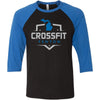 CrossFit Fenton - 100 - Standard - Bella + Canvas - Men's Three-Quarter Sleeve Baseball T-Shirt